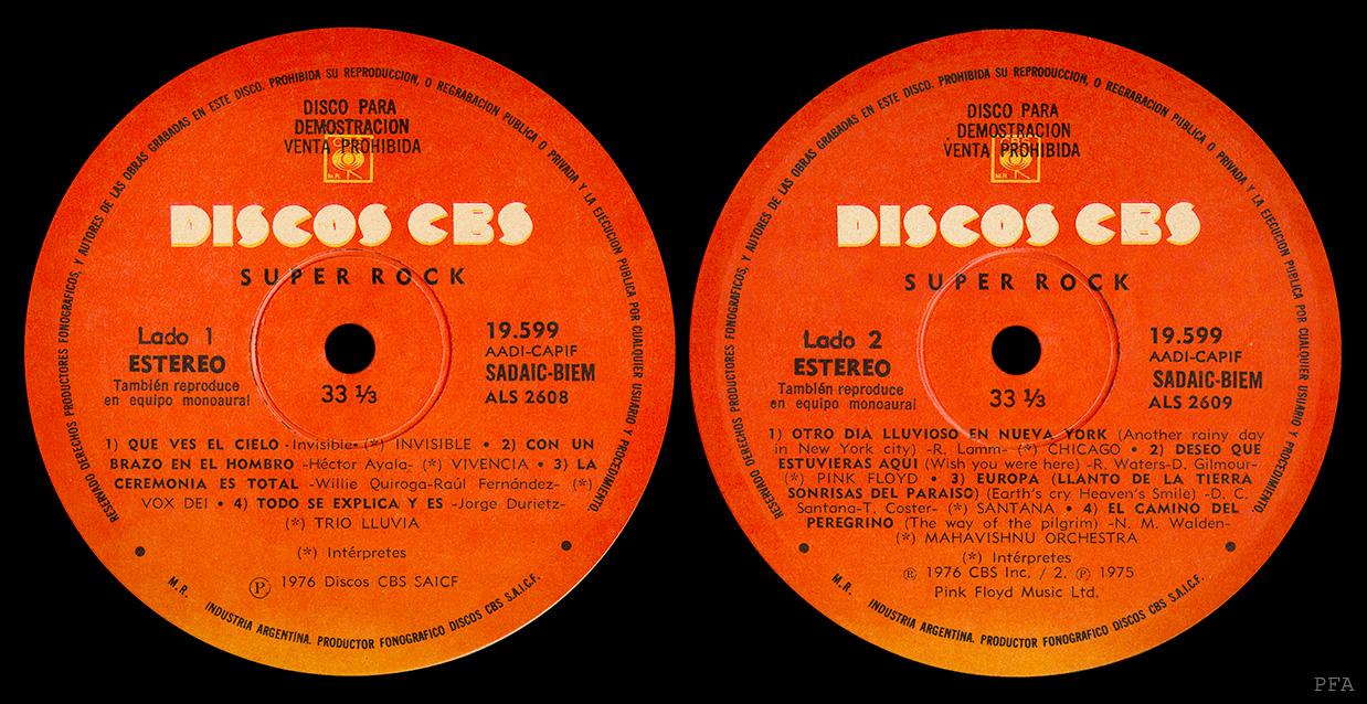 Pink Floyd Archives Argentinean Sampler Lp Discography