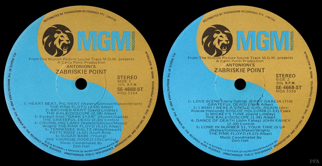 Pink Floyd Archives Australian Soundtrack Lp Discography