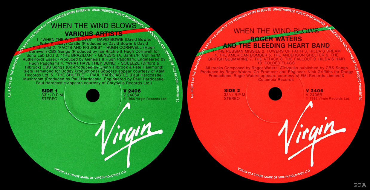 Labels: Green and red Virgin labels.