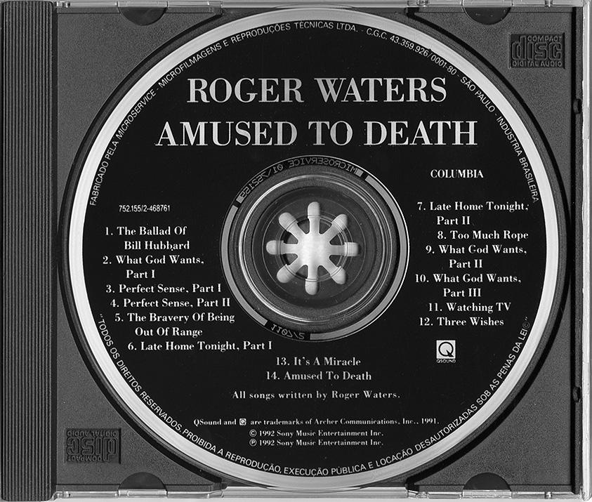 WATERS ROGER - AMUSED TO DEATH ALBUM LYRICS