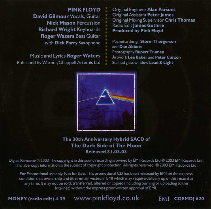Pink Floyd Archives-E U  Pink Floyd CD Singles Discography