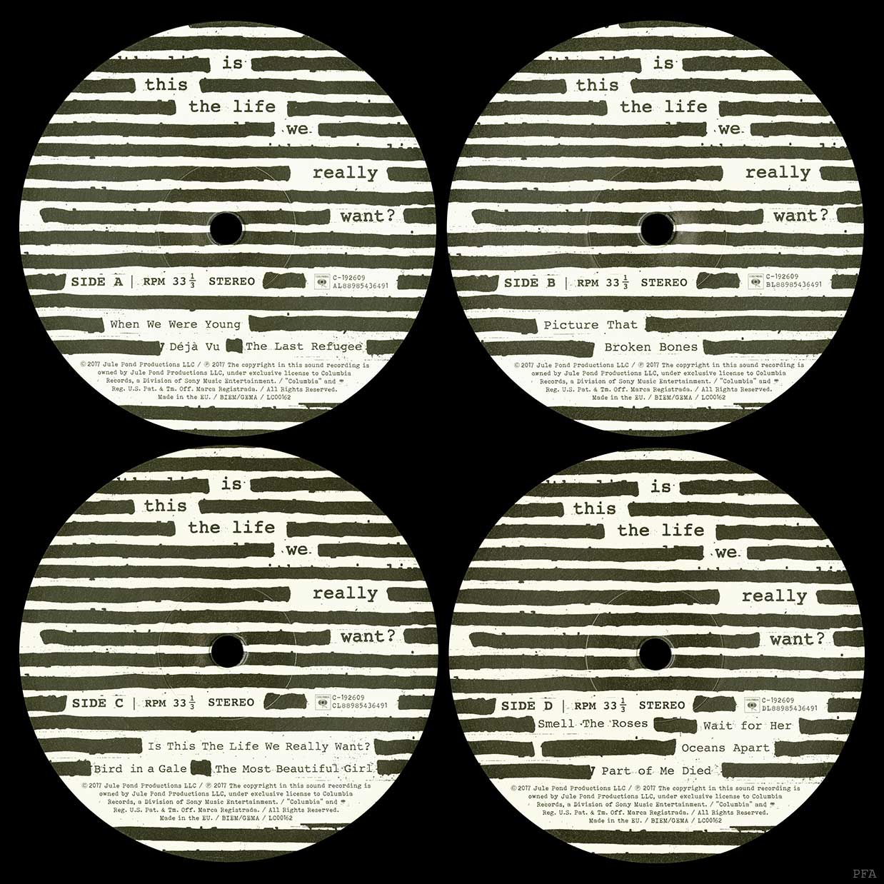Pink Floyd Archives-E U  Roger Waters LP Discography