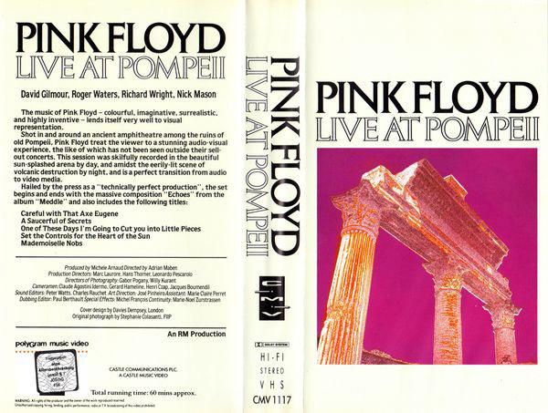 Pink Floyd Archives-German VHS Videotape Discography
