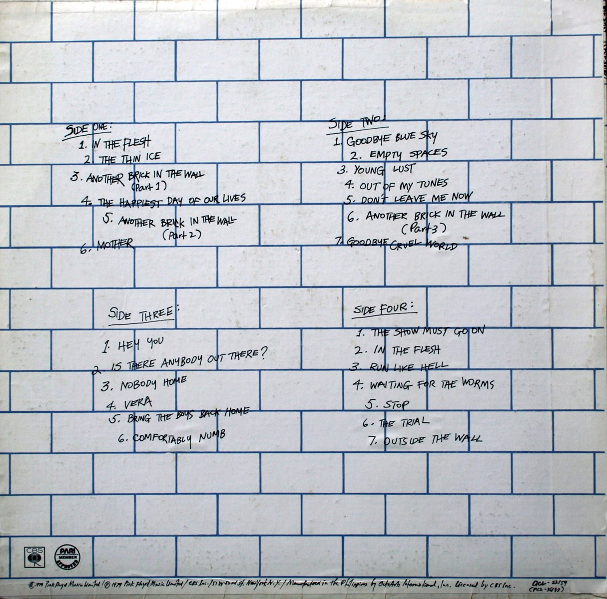 Pink floyd archives philippine lp discography