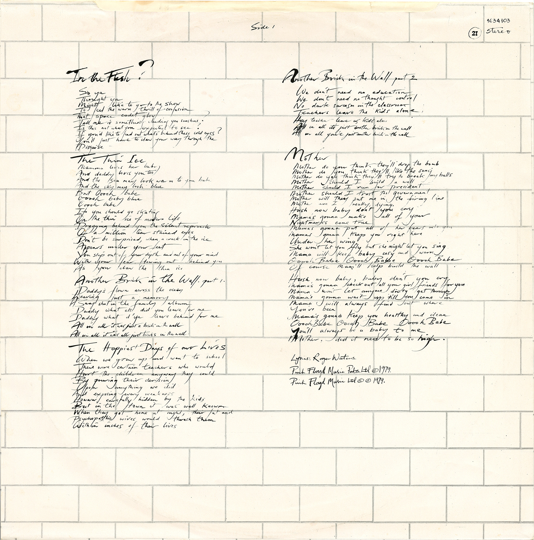 pink floyd archives portuguese pink floyd lp discography labels wall picture labels text around the top edge of the label starts at 9 o clock and