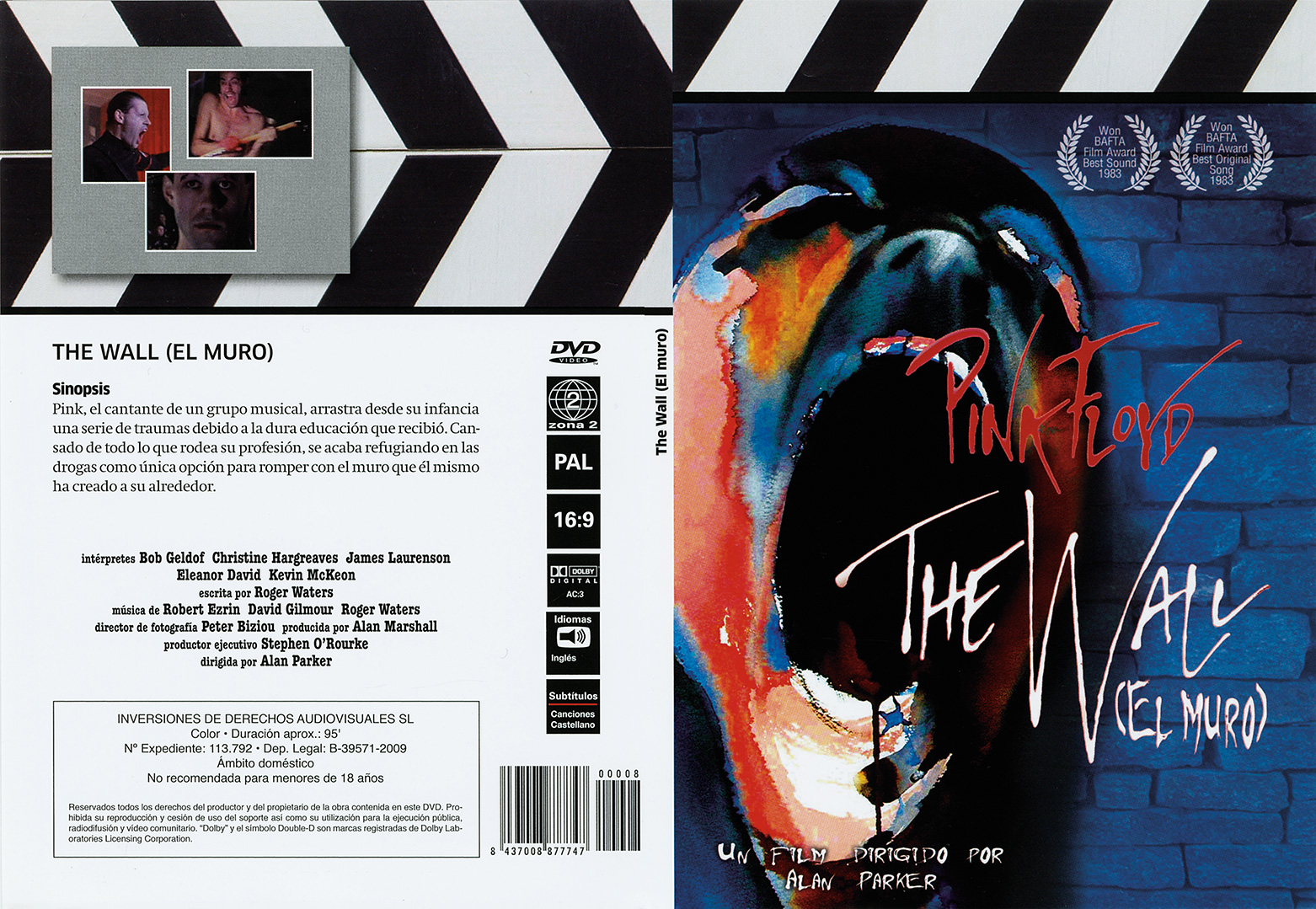 Pressing Plant Technodisco SA Spain Format Region PAL R2 Release Information Spanish DVD Of The Movie Pink Floyd