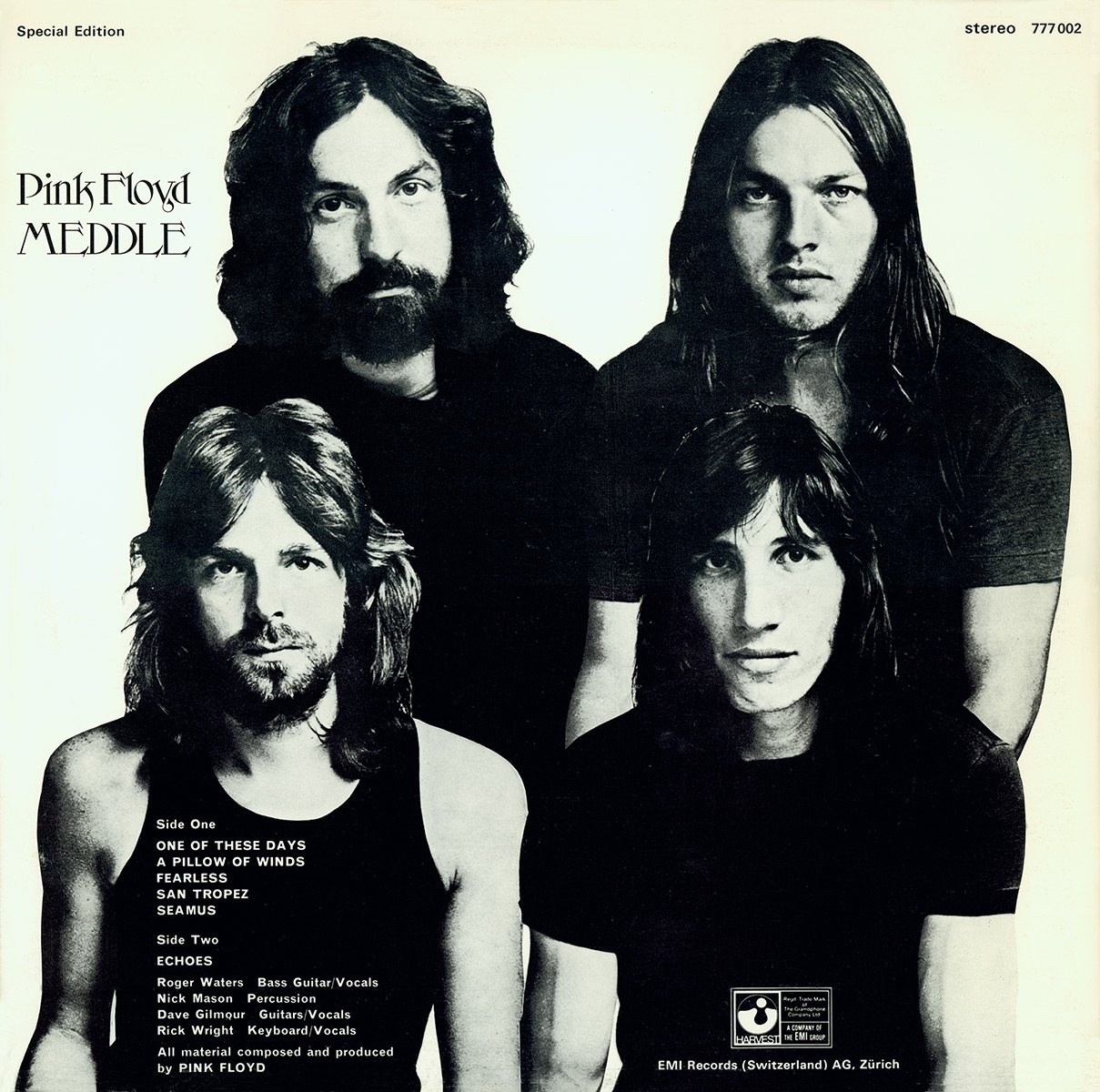 Pink Floyd Archives-Swiss LP Discography