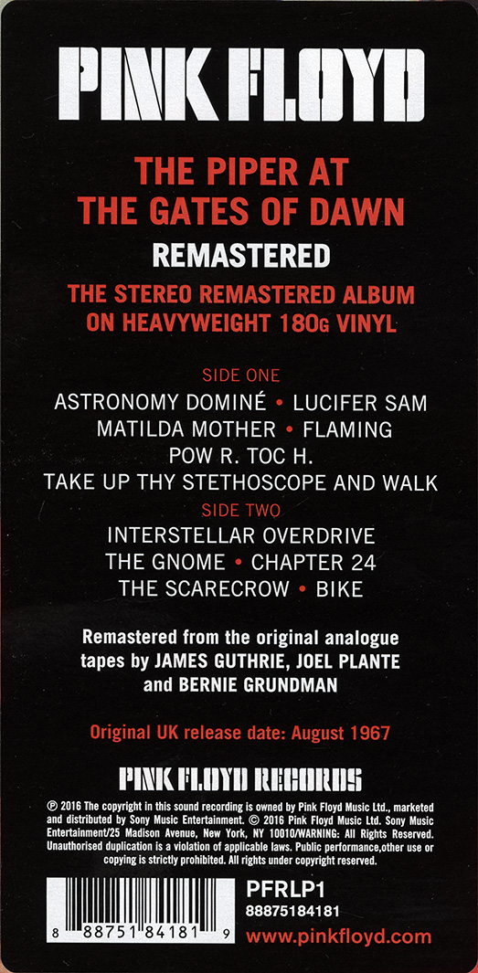 Pink Floyd Archives-U S  Box Set LP Discography