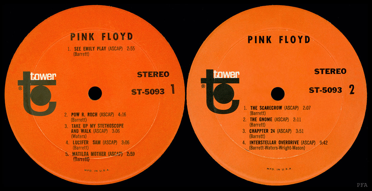Pink Floyd Archives-U S  LP Discography