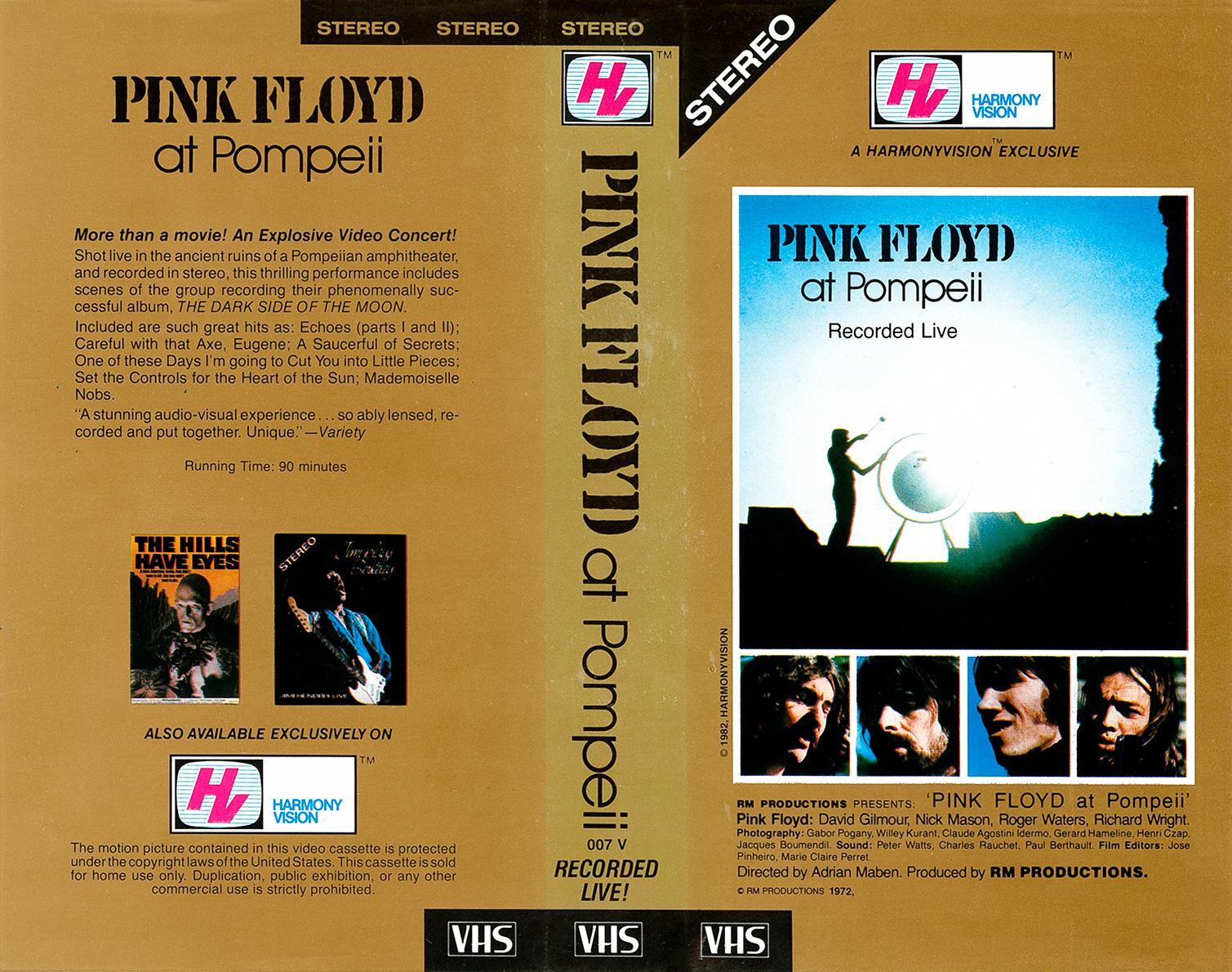 Pink Floyd Archives-U S  Pink Floyd VHS Videotapes
